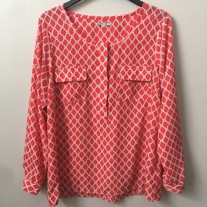 GAP Red Print Patterned Blouse
